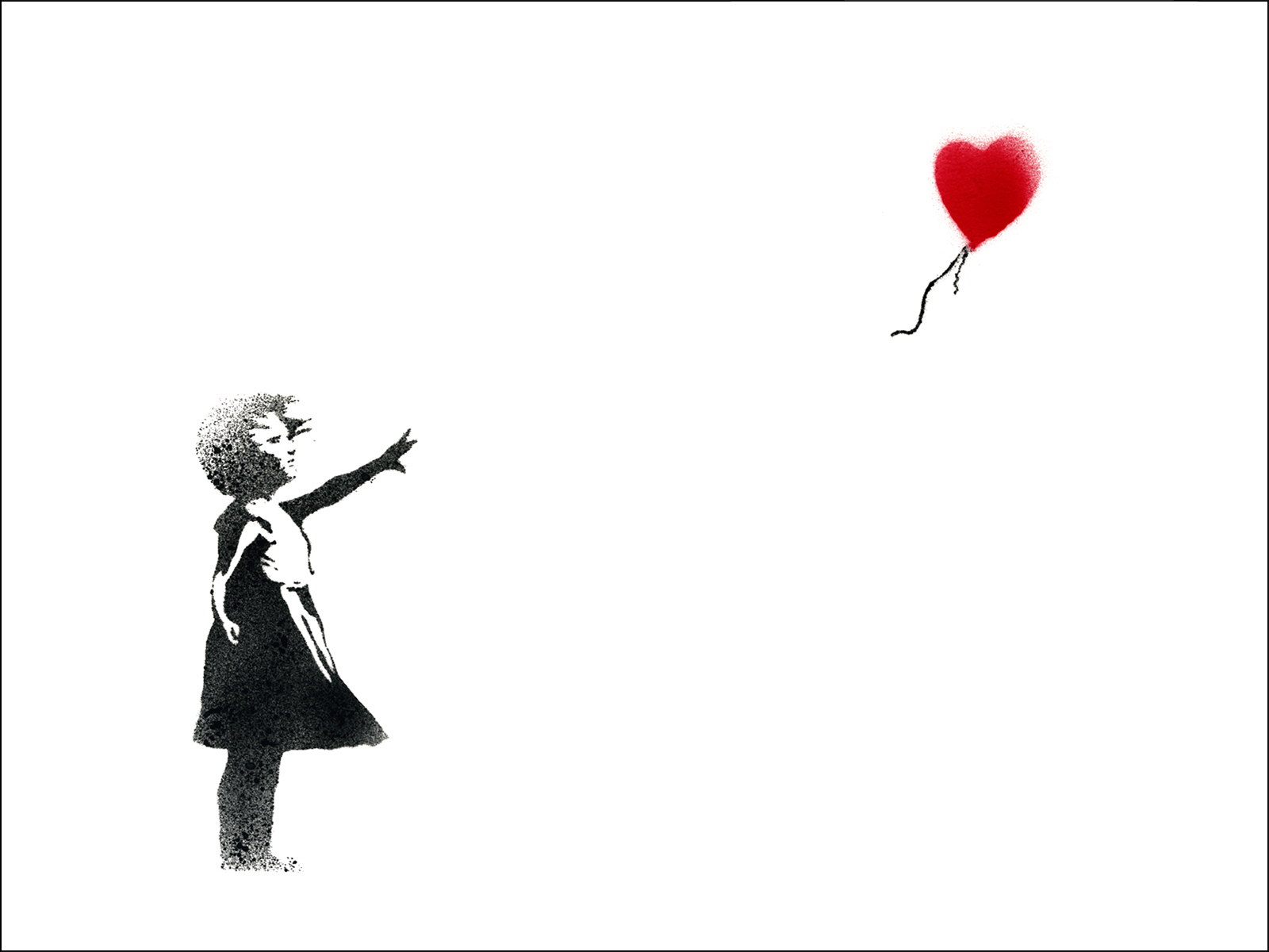 As banksy has shown us with the balloon heart innocence drifting away from the girl images are often less coy with color splashing
